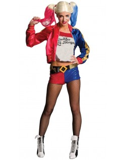 Dame Suicide Squad Harley Quinn Kostyme Sett