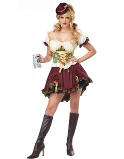 Renessanse Kort Oktoberfest Kostyme
