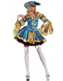 Deluxe Pirat Kostyme Sexy Marie Antoinette Kostyme