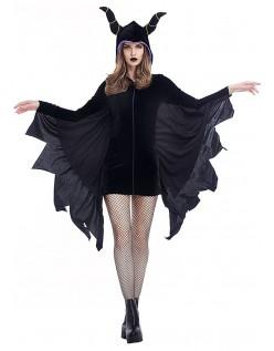 Svart Skurk Vampyr Kostyme for Halloween
