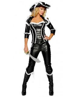 Sexy Deluxe Pirat Skatt Drakt Sjørøver Kostyme