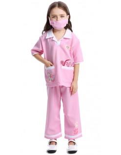 Veterinærdrakt Barn Halloween Lege Sykepleier Kostymer Rosa