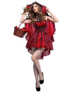 Brennende Rødhette Kostyme til Halloween