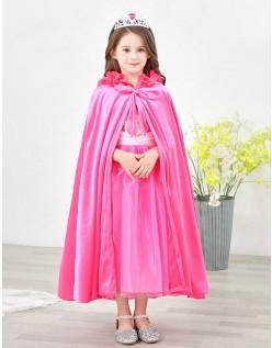 Barn Frozen Prinsesse Kappe Med Hette Rød