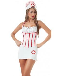 Hode Sykepleier Kostyme For Voksne