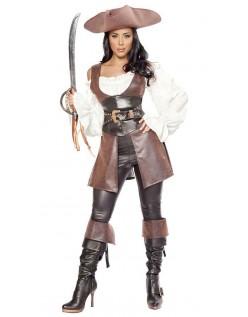 Utmerket Lær Swashbuckler Pirat Kostyme