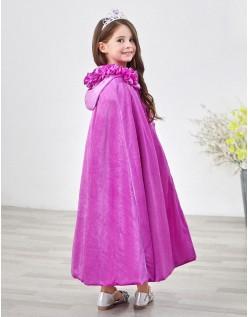 Barn Frozen Prinsesse Kappe Med Hette Lilla