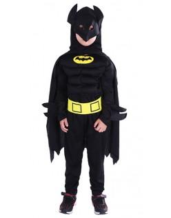 Muskel Halloween Superhelt Batman Kostyme for Barn