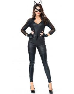 Sexy Deluxe Catwoman Kostyme Store Størrelser