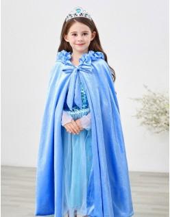 Barn Frozen Prinsesse Kappe Med Hette Blå