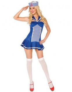 Glitrende Matros Jente Kostyme