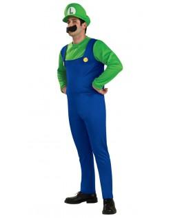 Super Mario Bros Luigi Kostyme Voksen