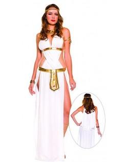 Hvit Sexy Gresk Gudinne Kostyme