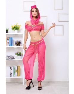 Rød Prinsesse Kostyme Magedans Kostyme