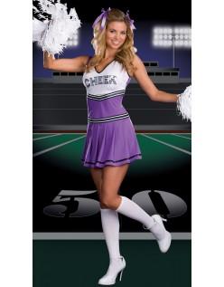 Varmt Salg Lilla Cheerleader Kostyme Voksen