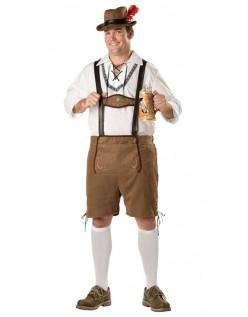 Tysk Oktoberfest Lederhosen Kostyme Herre