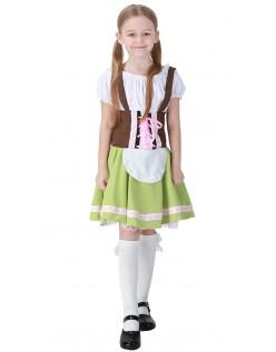 Oktoberfest Kostyme Barn Tyrolerkjole Jente