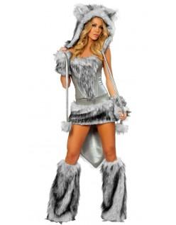 Pels Stor Stygg Ulv kostyme Dyrekostymer