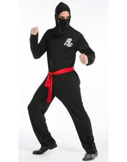 Halloween Mester Ninja Kostyme Menn