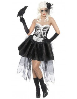 Halloween Skjelett Kostyme Karnevalsdrakt Dame