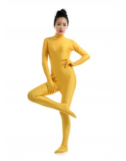 Morphsuit Lycra Spandex Drakt Second Skin Kostyme Dame Gul