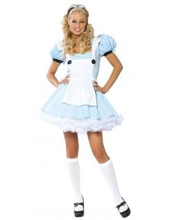 Blå Eventyr Kostyme Alice i Eventyrland Kostyme