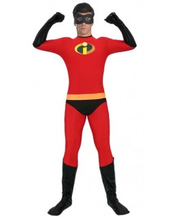 Incredibles 2 Mr. Incredible Kostyme Lycra Morphsuit Voksen
