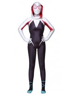 Spider Gwen Kostyme Spidergirl Superhelt Kostyme Voksen