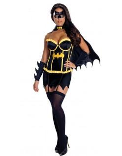 Superhelt Kostyme Deluxe Korsett Batgirl Kostyme