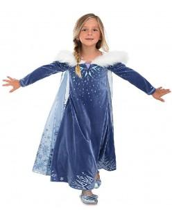 Snødronning Elsa Anna Kostyme Prinsessekjole Barn