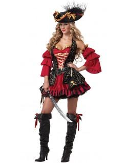 Sexy Spansk Pirat Kostyme For Kvinner