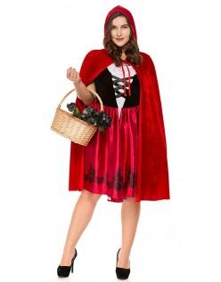 Klassisk Store Størrelser Rødhette Kostyme til Halloween