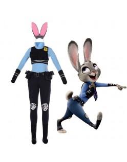 Zootopia Officer Judy Hopps Kanin Politiuniformer Cos Kostymer