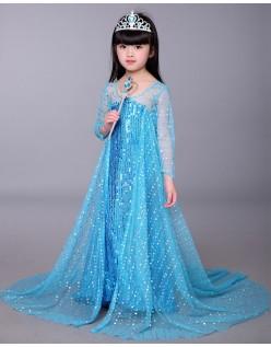 Sequin Frozen Elsa Prinsessekjole Barn