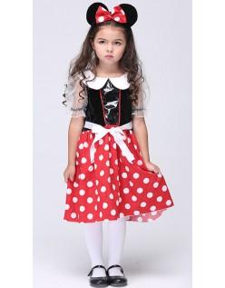 Søt Minnie Mus Kostyme Barn Halloween Kostymer