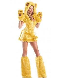 Halloween Bjørnekostyme Voksen Gul