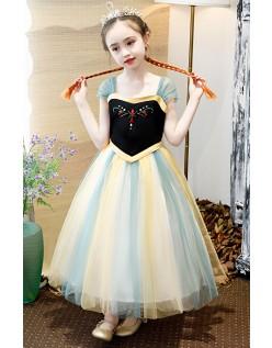 Jenter Frozen Prinsesse Anna Kjole Bursdag Festkjoler