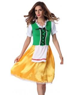 Grønn Oktoberfest Kostyme Tysk Tyroler