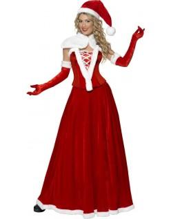 Lang Nissedrakt Dame Julenisse Kostyme