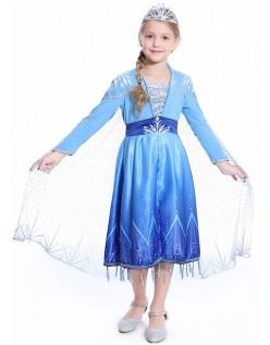 Klassiske Frozen 2 Kostymer Elsa Prinsessekjole Barn