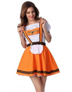 Brun Tysk Tyroler Oktoberfest Kostyme