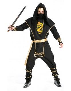 Halloween Ninja Kriger Kostyme Voksen
