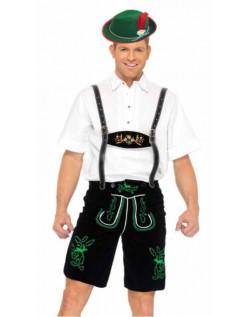 Tysk Bayerske Oktoberfest Lederhosen Kostyme
