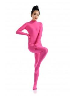 Morphsuit Lycra Spandex Drakt Second Skin Kostyme Dame Lyserød