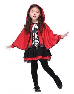 Barn Lille Rødhette Kostyme for Halloween