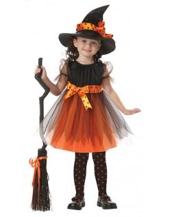 Halloween Magisk Heks Kostyme Barn