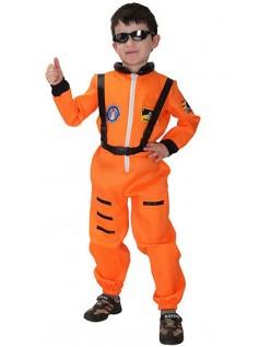 Lille Barn NASA Astronaut Kostyme Oransje