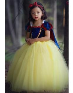 Søt Halloween Prinsesse Kjole Snøhvit Kostyme Barn