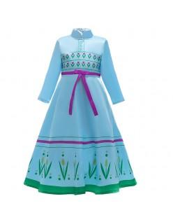 Barn Frozen 2 Kostymer Anna Prinsessekjole Blå