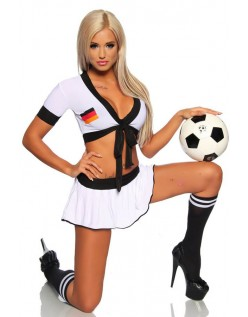 Tysk Jente Sexy Fotball Kostyme